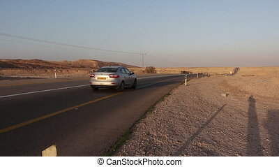 car pass in the desert
