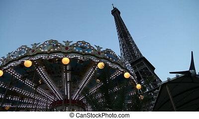 Shot of Carousel in paris