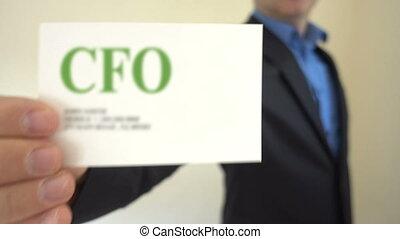 CFO Present Business Card - Shot of CFO Present Business...