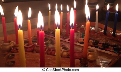 Chanukah candles - Shot of Chanukah candles