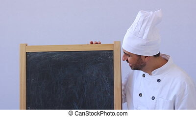 Shot of Chef presenting