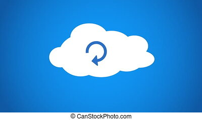 cloud computing processing - Shot of cloud computing...