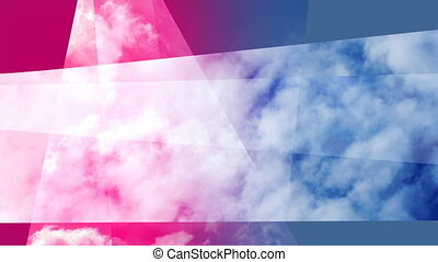 shot of clouds and sky with overlayed motion graphics