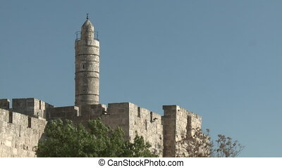 David tower in Jerusalem - Shot of David tower in Jerusalem