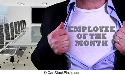 Employee of the month shirt - Shot of Employee of the month...