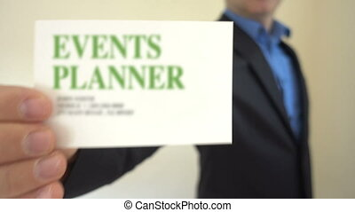 Event Planner Business Card - Shot of Event Planner Business...