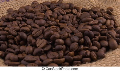 Shot of Exploding Premium Coffee Beans the Camera. Footage