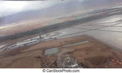 Flight from Eilat to Tel aviv - Shot of Flight from Eilat to...