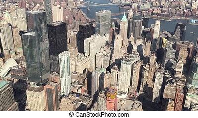Flight Over Manhattan NY - Shot of Flight Over Manhattan NY