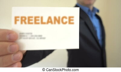 Freelance Present Business Card - Shot of Freelance Present...