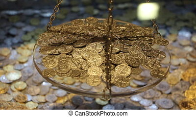 Gold coins and gold bar - Shot of Gold coins and gold bar