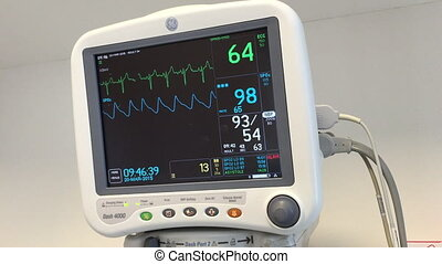 Shot of Hospital monitor with audio