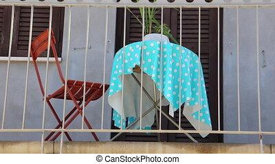 Italian balcony romantic - Shot of Italian balcony romantic