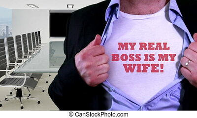 My boss is my wife concept shirt - Shot of My boss is my...