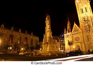 Holy trinity column in Budapest, Hungary