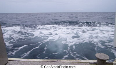 Shot of ocean's current while moving - A full shot of the...