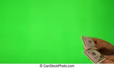 Paying Customer on green screen