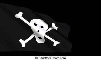 pirates flag - Shot of pirates flag
