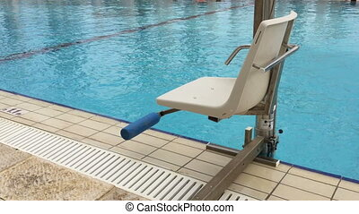 Pool facility for disabled - Shot of Pool facility for...