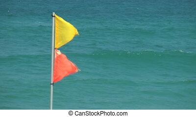 sea flags - Shot of sea flags