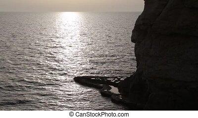 sea water panoramic view - Shot of sea water panoramic view