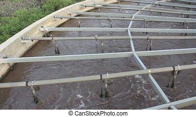Semi clean sewage cleaning process - Shot of Semi clean...