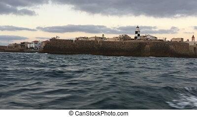 Shaky boat at sea - Shot of Shaky boat at sea