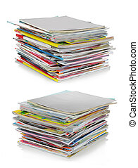 shot of stack of magazines with blank cover