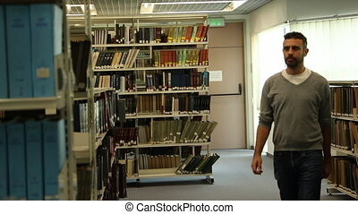 Student research in library - Shot of Student research in...