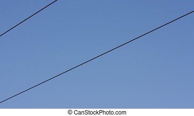 shot of the cablecar in barcelona