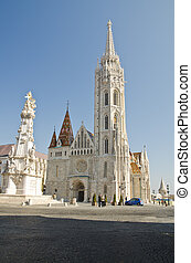 Matthias Church, Budapest - shot of the Matthias Church,...