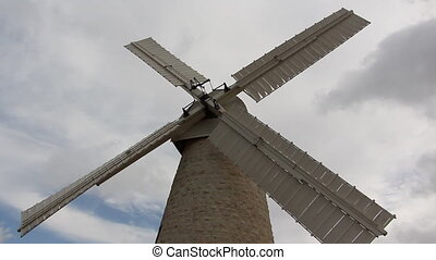 The windmill in Jerusalem - Shot of The windmill in...