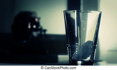 water in glass