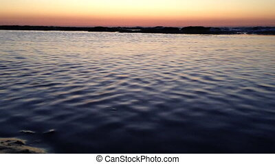 Water in the sunset