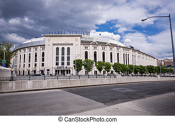 Shot of Yankee Stadium - Shot of outside of Yankee Stadium