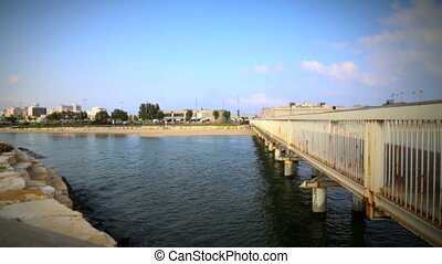 Yarkon Park And Tel Aviv Port Bridge - Shot of Yarkon Park...