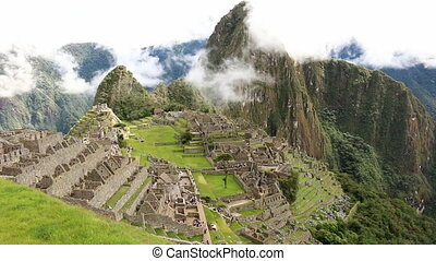 Shot on Machu Picchu of historical structures - Longshot...