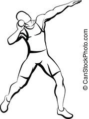 Shot Putter - Vector illustration of a shot putter....