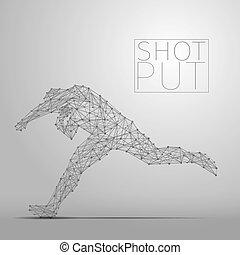 shot putter gray