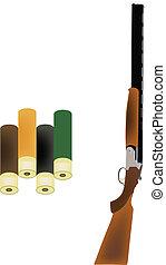 firearm - shotgun firearm with bullets