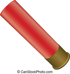 Shotgun Shell for sport hunting. Vector illustration.