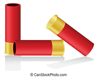 shotgun shells vector illustration isolated on white...