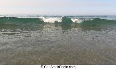 shotting waves seashore