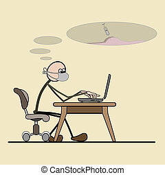 should be treated and a person and - Programmer sitting in a...