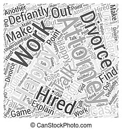 Should you have an attorney for a divorce Word Cloud Concept