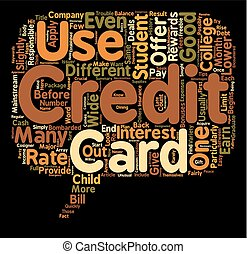Should Your Student Get A Student Credit Card text background wordcloud concept
