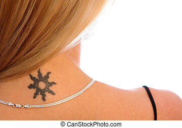 Shoulder and Tattoo - Blonde with Tattoo