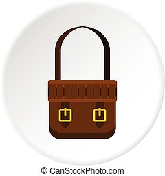 Shoulder bag icon circle