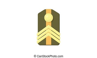 Shoulder straps icon animation best object on white background