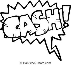 shout for cash cartoon